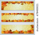 autumn colorful leaves vector... | Shutterstock .eps vector #678400021