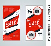modern big sale business... | Shutterstock .eps vector #678400531