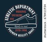 new york  sneakers   grunge...   Shutterstock .eps vector #678411934