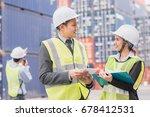 secretary and businessman in...   Shutterstock . vector #678412531