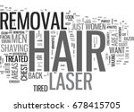 what areas can you use laser... | Shutterstock .eps vector #678415705