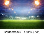 stadium in lights and flashes... | Shutterstock . vector #678416734