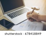architect man working with... | Shutterstock . vector #678418849