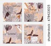 hand drawn creative invitation... | Shutterstock .eps vector #678423025