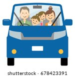 family to go out by car | Shutterstock .eps vector #678423391