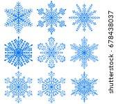 set of beautiful christmas... | Shutterstock .eps vector #678438037