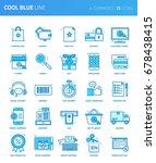 modern thin line icons set of e ... | Shutterstock .eps vector #678438415