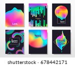 minimal covers design gradients ... | Shutterstock .eps vector #678442171