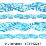 blue wave patterns  seamless... | Shutterstock .eps vector #678442267