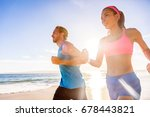 running healthy people training ... | Shutterstock . vector #678443821