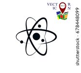 atom sign icon  vector best... | Shutterstock .eps vector #678448099