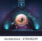 pierced eye in next 4th level.... | Shutterstock .eps vector #678448249