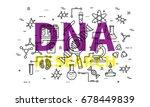 dna research vector... | Shutterstock .eps vector #678449839