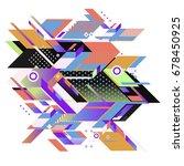 trendy geometrical vector... | Shutterstock .eps vector #678450925