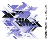 trendy geometrical vector... | Shutterstock .eps vector #678458221