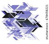 trendy geometrical vector... | Shutterstock .eps vector #678458221