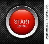 start engine button on carbon... | Shutterstock .eps vector #678460444