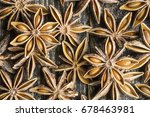 group of star anise on a wooden ... | Shutterstock . vector #678463981
