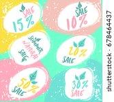 set of summer sale labels for...   Shutterstock .eps vector #678464437