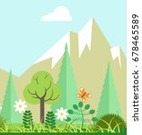 mountain nature beauty in... | Shutterstock .eps vector #678465589