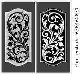 vector vintage border frame... | Shutterstock .eps vector #678465871