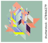 trendy geometrical vector... | Shutterstock .eps vector #678466279