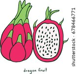dragon fruit coloring page.... | Shutterstock .eps vector #678466771