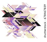 trendy geometrical vector... | Shutterstock .eps vector #678467839