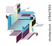 trendy geometrical vector... | Shutterstock .eps vector #678467854