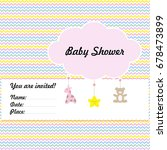 baby arrival or shower template ... | Shutterstock .eps vector #678473899