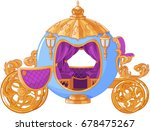 Illustration of Cinderella fairy tale carriage