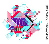 trendy geometrical vector... | Shutterstock .eps vector #678475501
