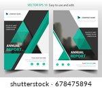 green flyer cover business... | Shutterstock .eps vector #678475894