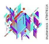 trendy geometrical vector... | Shutterstock .eps vector #678478114