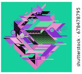 trendy geometrical vector... | Shutterstock .eps vector #678478795