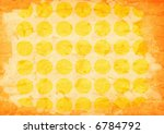 close-up of yellow spotted vintage paper background - stock photo