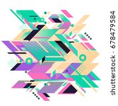 trendy geometrical vector... | Shutterstock .eps vector #678479584