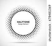 halftone vector circle frame... | Shutterstock .eps vector #678481369