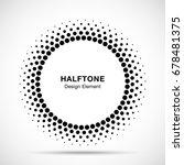 halftone vector circle frame... | Shutterstock .eps vector #678481375