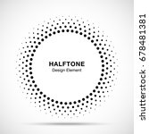 halftone vector circle frame... | Shutterstock .eps vector #678481381