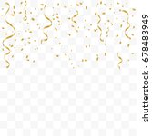 golden confetti and ribbon... | Shutterstock .eps vector #678483949
