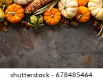 Fall Copy Space With Pumpkins ...