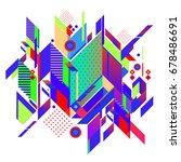 trendy geometrical vector... | Shutterstock .eps vector #678486691