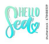 hello summer card. beautiful...   Shutterstock .eps vector #678488509
