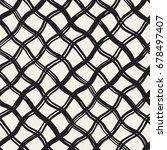 hand drawn seamless plaid... | Shutterstock .eps vector #678497407