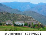 large houses on a beautiful...   Shutterstock . vector #678498271