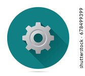 gear icon vector flat style for ... | Shutterstock .eps vector #678499399