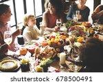 thanksgiving celebration... | Shutterstock . vector #678500491