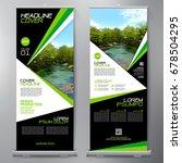 business roll up. standee... | Shutterstock .eps vector #678504295