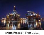 repair of the oil rig in the... | Shutterstock . vector #67850611